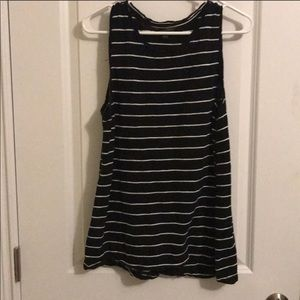 Stripe black white sz L  perfect with any jeans .